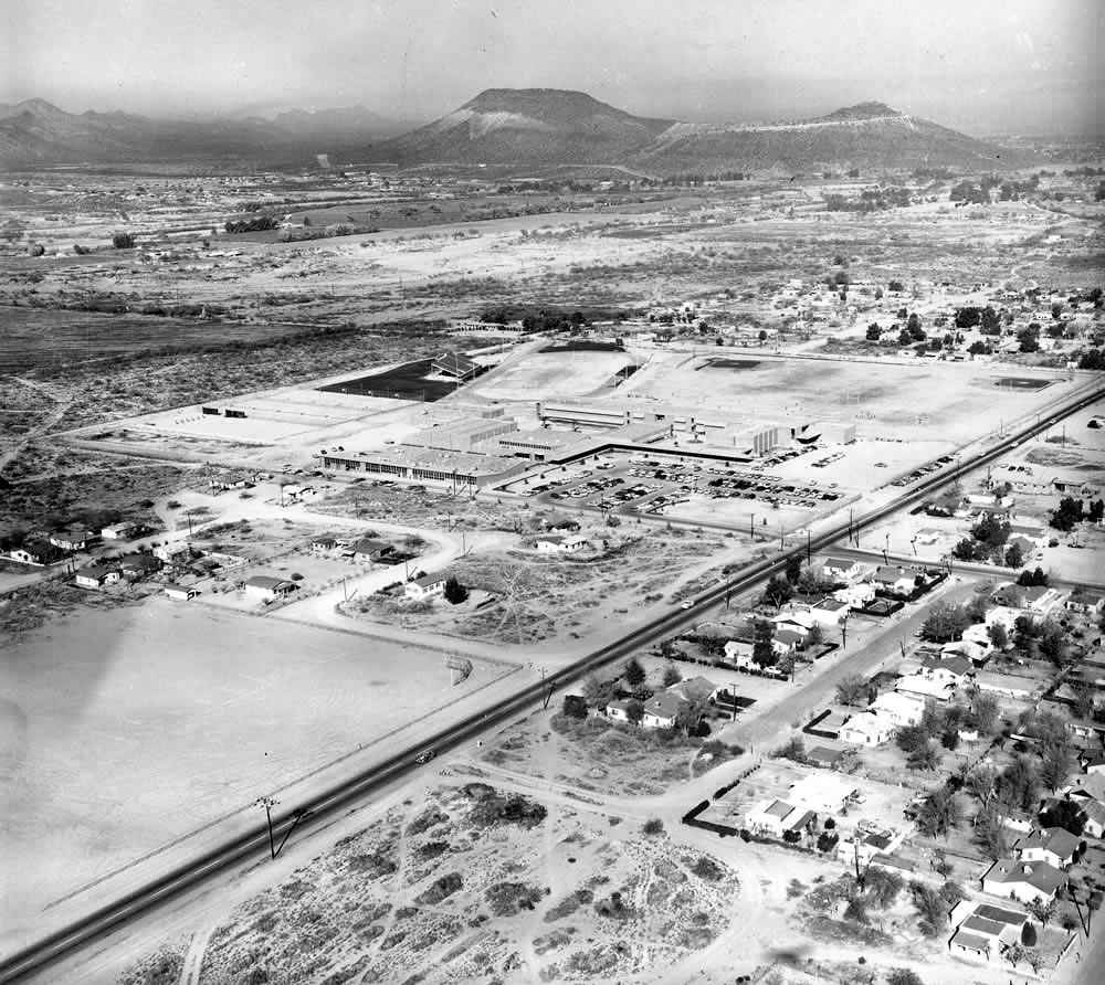 Aerial Of Pueblo HS In 1956